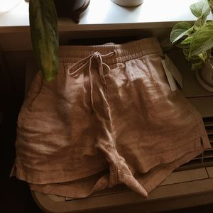 H&M Blush Pink Linen Shorts